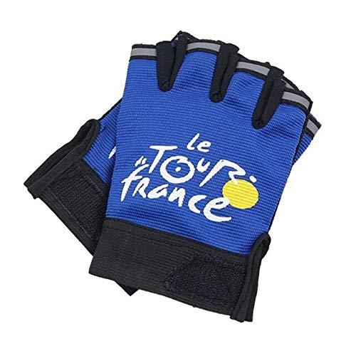 (Blue-Ocean-11 - Cycling Half Finger Gloves Men Women Climbing Outdoor Sports Bicycle Glove)