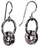 .40 Winchester S&W Palladium Plated Double Bullet Earring Hoops