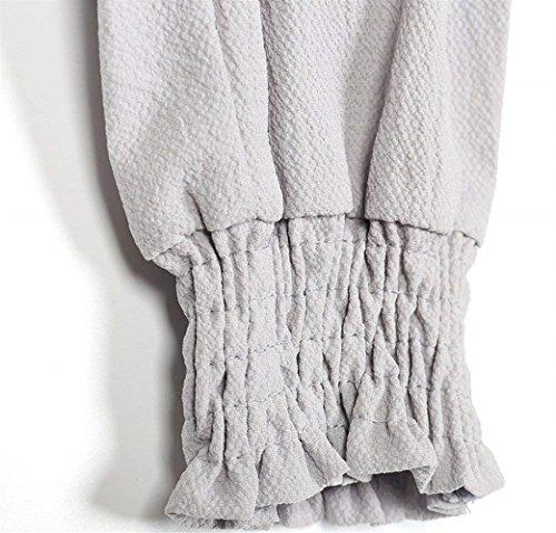 Elastica Moda Monocromo Elegante Chic High Pantalone Waist Harem Donna Vita Grau Libero Jogging Ragazza Pantaloni Tempo Vintage Autunno Pantaloni Abbigliamento Pantaloni Primaverile Lunga nUqpq0Aw