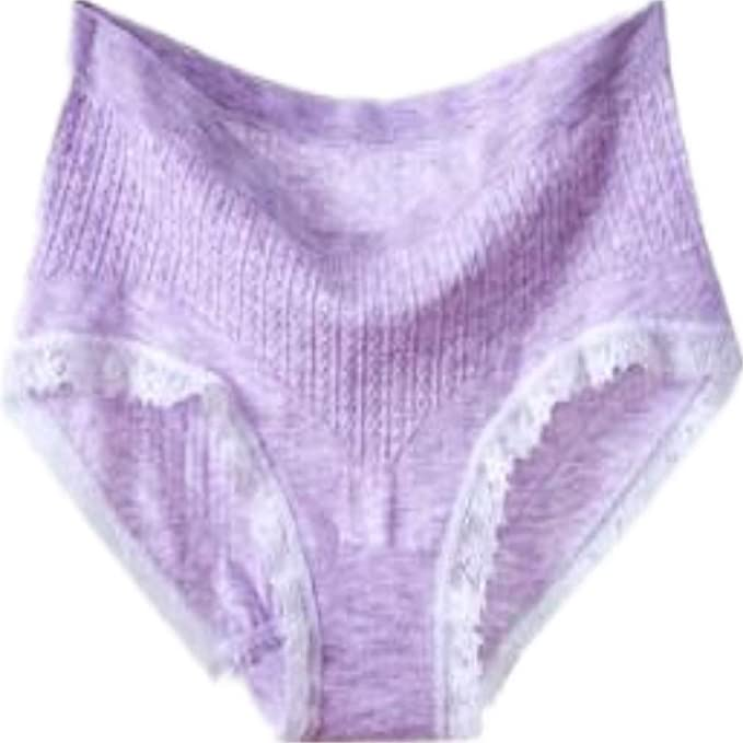 90241d598a5c Kuiduo Clothing Light Purple Women's Underwear Triangle Briefs Comfortable Mid  Waist Sexy Seamless Underwear Underpant (Color : As Shown, Size : One Size)  ...