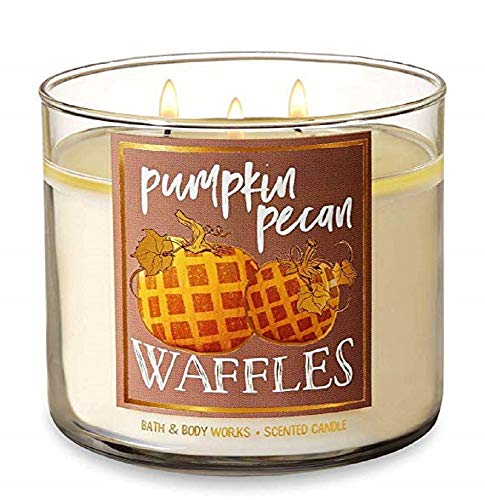 Caramel Apples Wisconsin - Bath and Body Works Pumpkin Pecan Waffles Candle - Large 14.5 Ounce 3-wick Limited Edition Fall Pumpkin Cafe