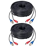 Lorex 2 Pack 100' UL/cm-Rated Premium 4K RG59/Power Accessory Cable