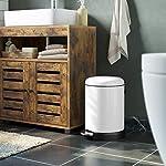 SONGMICS-Cubo-de-basura-con-pedal-5-litros-cubo-con-pedal-cierre-suave-recipiente-exterior-de-acero-cubo-interior-de-plastico-color-blanco-203-x-283-x-301-cm