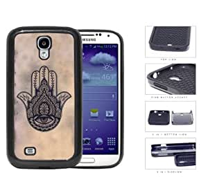 Hamsa Hand Solid Background Series 2-Piece Dual Layer High Impact Black Silicone Cell Phone Case Cover Samsung Galaxy S4 I9500 (blood)