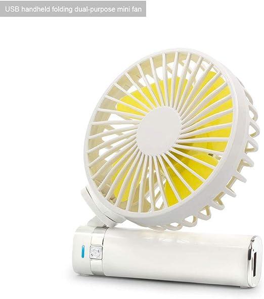 ZZUU USB Plegable Ventilador De Mano Ventilador Silencioso,con Luz ...