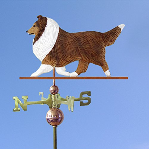- Sheltie Hand Carved Hand Painted Basswood Dog Weathervane Sable, 32 Inch (+$155.00), No