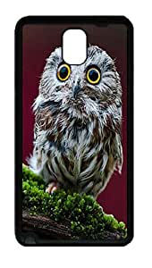 Samsung Galaxy Note 3 N9000 Case and Cover -Small Owl Animal TPU Silicone Rubber Case Cover for Samsung Galaxy Note 3 N9000¨CBlack