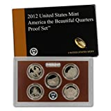 """The 2012-S United States Mint """"America the Beautiful"""" Proof Set contains 5 coins.Each of the five quarters bears the """"S"""" mint mark of the United States Mint at San Francisco.The 2012-S set includes (5) Washington quarters honoring: El Yunque National..."""