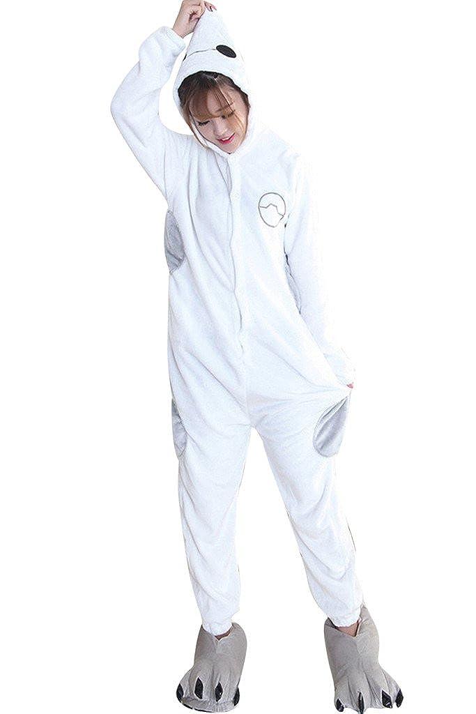 FloYoung Unisex Cartoon Sleepwear Baymax Cosplay Costumes Onesie Pajamas Flannel FY-Sleepwear23