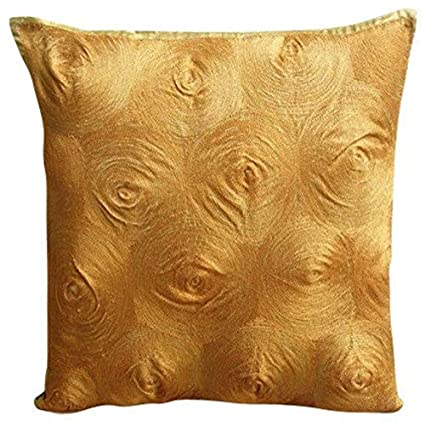Gold Throw Pillows Cover For Couch, Embroidered Spiral Pillows Cover,  14u0026quot;x14u0026quot;
