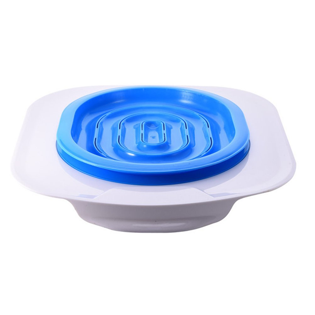 UEETEK Pet Toilet Training Seat for Cats Potty Training Tray Cats Kit (Blue)