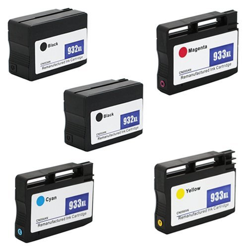 Ultimate Approach Inc., DBA Amsahr - IMPORT SHENZHEN Amsahr932XLBK(CN053AN)-SET5-2BK-3CLHP CN053AN, CN054AN HP Remanufactured Replacement Ink Cartridges - Includes Set of 5: 2 Black and 3 Color Ink Cartridges price tips cheap