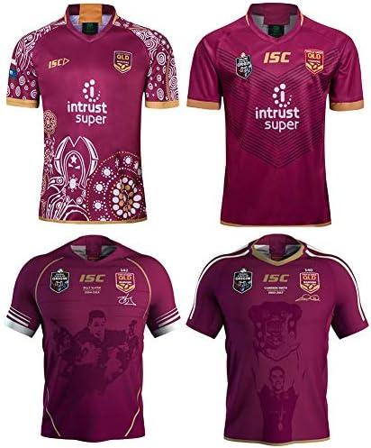 Maroons 2018ラグビージャージ、State of OriginフットボールTシャツ、ラグビートレーニングシャツ