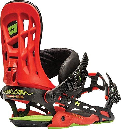 Rome Snowboards G3 390 Boss Snowboard Bindings, Red, Small/Medium