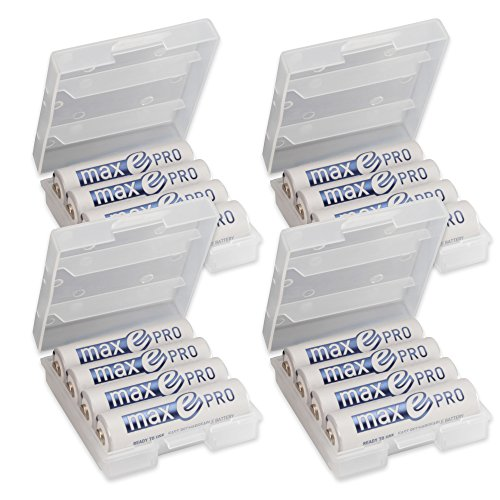 ANSMANN Rechargeable Batteries AA 2000 mAh NiMH Plus Battery Box - Low self-Discharge Double A Batteries pre-Charged for Camera, Flashlight, Toys, Solar Light, headlamp, Controller etc - 16 Pack