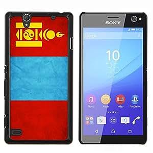 EJOOY---Cubierta de la caja de protección para la piel dura ** Sony Xperia C4 ** --Nacional bandera de la nación País Mongolia