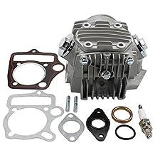GOOFIT Completed Cylinder Head for 4 Stroke 110cc Engine for ATV Go Kart Dirt Bike