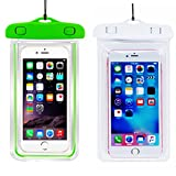 (2Pack) Waterproof Case, CaseHQ Universal IPX8 Waterproof Phone Pouch Underwater Phone Case Bag Neck Strap for iPhone X/8/8P/7/7P,Samsung Galaxy S9/S8/S8P/Note 8,Google Pixel/LG/HTC up to 6.0''-Pink