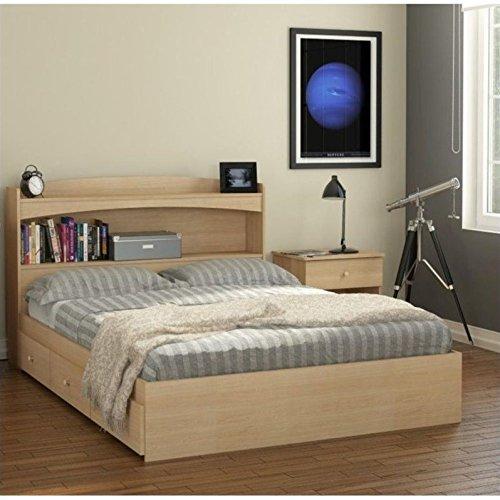 Nexera Alegria 3 Piece Full Bedroom Set in Natural Maple