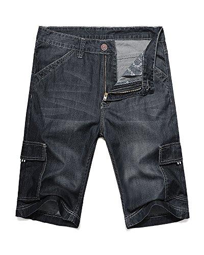 Back Zip Denim Shorts - 6