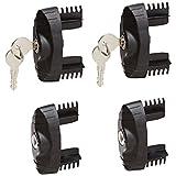 Rhino Rack VA-LEC4  Locking End Caps for Vortex Aero Bars Only, Set/4