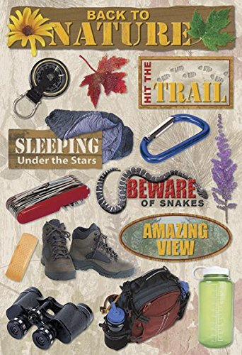 Single Page Scrapbook Layout - Karen Foster 10879 Design Acid and Lignin Free Scrapbooking Sticker Sheet, Back to Nature