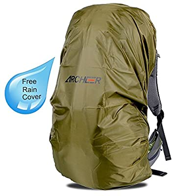 ARCHEER 65L Internal Frame Hiking Backpack Travel Daypack Trekking Bag with Rain Cover for Outdoor Sports Climbing Camping Mountaineering Backpacking