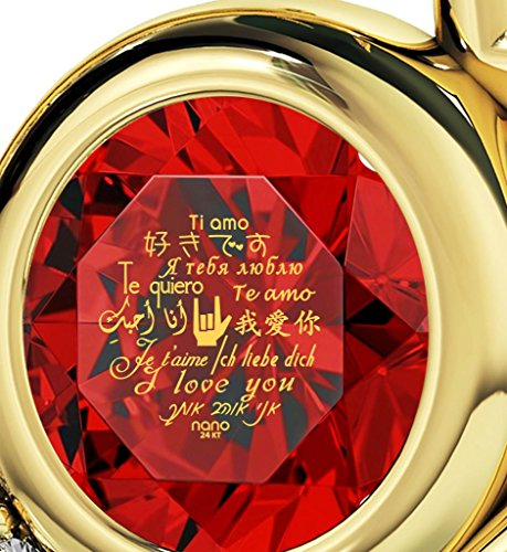 Nano Jewellery Collar Te Amo con corazón bañado en Oro – Colgante con Frase de Amor en 12 Idiomas inscrita en Oro de… Nano Jewellery Collar Te Amo con corazón bañado en Oro – Colgante con Frase de Amor en 12 Idiomas inscrita en Oro de… Nano Jewellery Collar Te Amo con corazón bañado en Oro – Colgante con Frase de Amor en 12 Idiomas inscrita en Oro de…