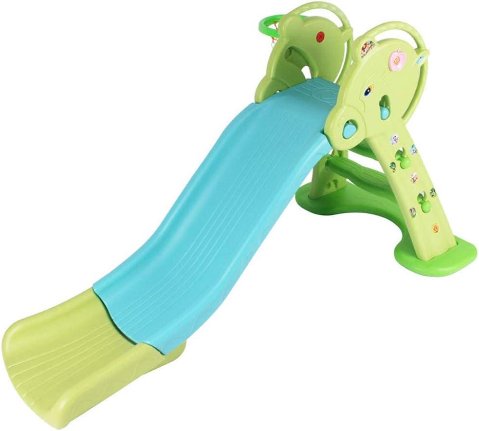 Thole Baby Vivo Scivolo Musica per Bambini Bimbi Giardino Esterni Interno Parco da Plastica Struttura per Arrampicarsi Verde Rosa