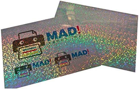 Klebefolie für Tintenstrahldrucker, Hologramm, Pixel-Effekt, Metallic, 5 Blatt, A3