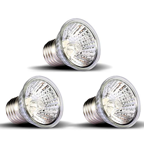 - OMAYKEY 3-Pack 75W UVA + UVB Full Spectrum Sun Lamp Sunbathe Heat Lamp/Bulb/Light for Lizard Reptiles and Amphibians