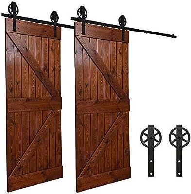 152CM/5FT puertas acero puerta corrediza de granero Hardware ...