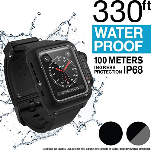 Waterproof Apple Watch Case 42mm Series 2 & 3 With Premium Soft Silicone Apple Watch Band by Catalyst