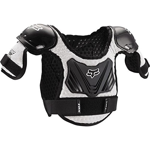 Fox Racing Peewee Titan Youth Roost Deflector Black/Silver-M/L