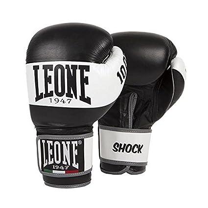 Leone 1947 Boxing Gloves Shock Leather MMA UFC Muay Thai Kick Boxing K1  Karate Training Sparring Punching Gloves