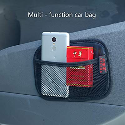 "Car Storage Organizer, Net Bag Mesh Pocket Organizer, Universal Car String Bag Car Seat Side Storage, 7.9 X 5.5"" Net Bag Mesh Pocket Organizer Stick-on for Purse Bag Phone: Home Improvement"