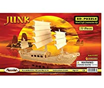 3-D Wooden Puzzle - Oriental Sail Boat Model -Affordable Gift for your Little One! Item #DCHI-WPZ-P045