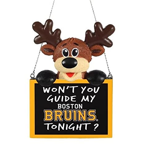 Pick Team 2015 NHL Hockey Reindeer with Sign Holiday Christmas Tree Ornament