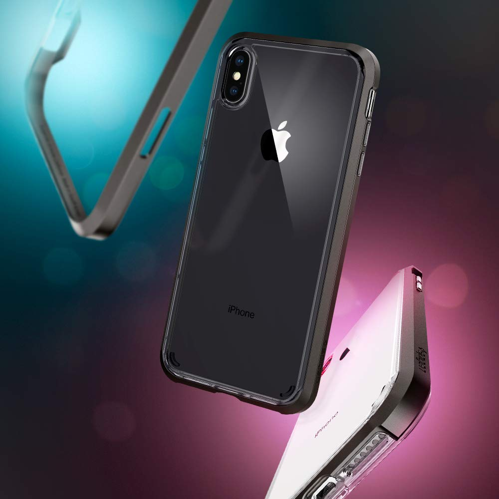 Spigen Neo Hybrid Crystal Designed For Apple Iphone Xs Case Xr Modern Dual Layer Frame Design Casing Gunmetal Max 2018 Electronics