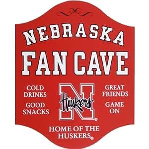 Handcrafted Nebraska Fan Cave Sign