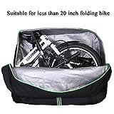 "ROCKBROS Folding Bike Transport Bag 16""-20"" Cycling Carrying Travel Case for Car Black"