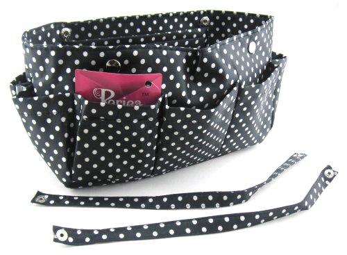 Pink Black donna medium Polka Stripes Borsa White Black Periea With mano Dots a With wTIYxqwg