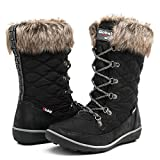 Globalwin Women's 1731 Winter Waterproof Snow Boots (9 D(M) US Women's, 1731Black)