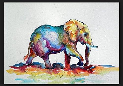 Colorful Elephant Painting on Canvas Art Print Poster 24 by - Kunis Mila Aerosmith