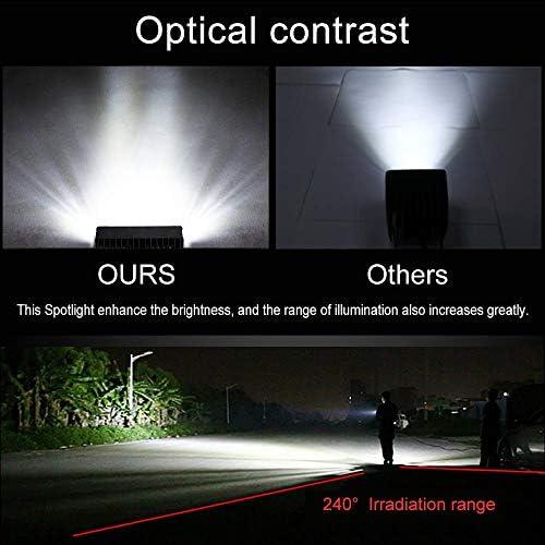 Pair 7 inch 816W LED Work Light Bar Flood Spot Offroad 4WD SUV Driving Fog Light