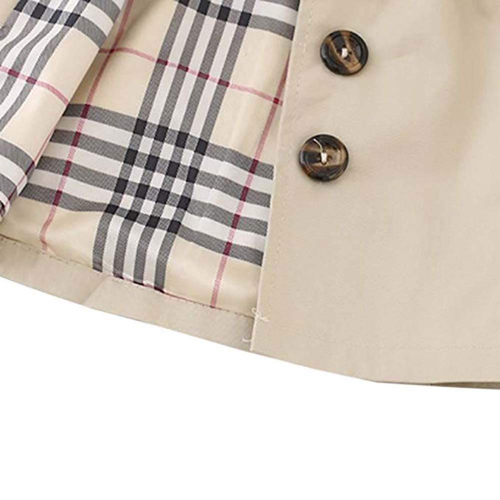 Modaka Giacca Bambina Cappotto Trench Felpa con Cintura Princess Giacche per Bambini Parka Abbigliamento Capispalla 0-4 Anni Primavera Autunno