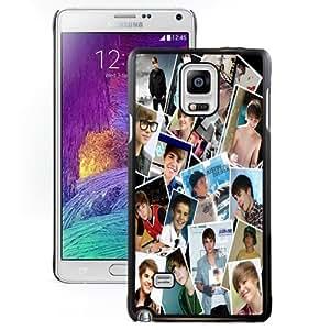 Beautiful Custom Designed Cover Case For Samsung Galaxy Note 4 N910A N910T N910P N910V N910R4 With Justin Bieber Photo Wall1 Phone Case WANGJING JINDA