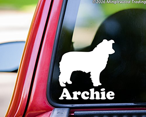 Minglewood Trading Border Collie vinyl decal sticker with Personalized Name 5