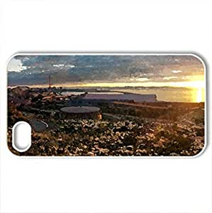 AUSTRALIA-Whyalla - Case Cover for iPhone 4 and 4s (Sunsets Series, Watercolor style, White)