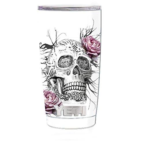 p (5-piece kit) for Yeti 20 oz Rambler Tumbler Cup / Roses in Skull ()